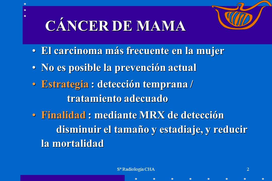 CÁNCER DE MAMA El carcinoma más frecuente en la mujer
