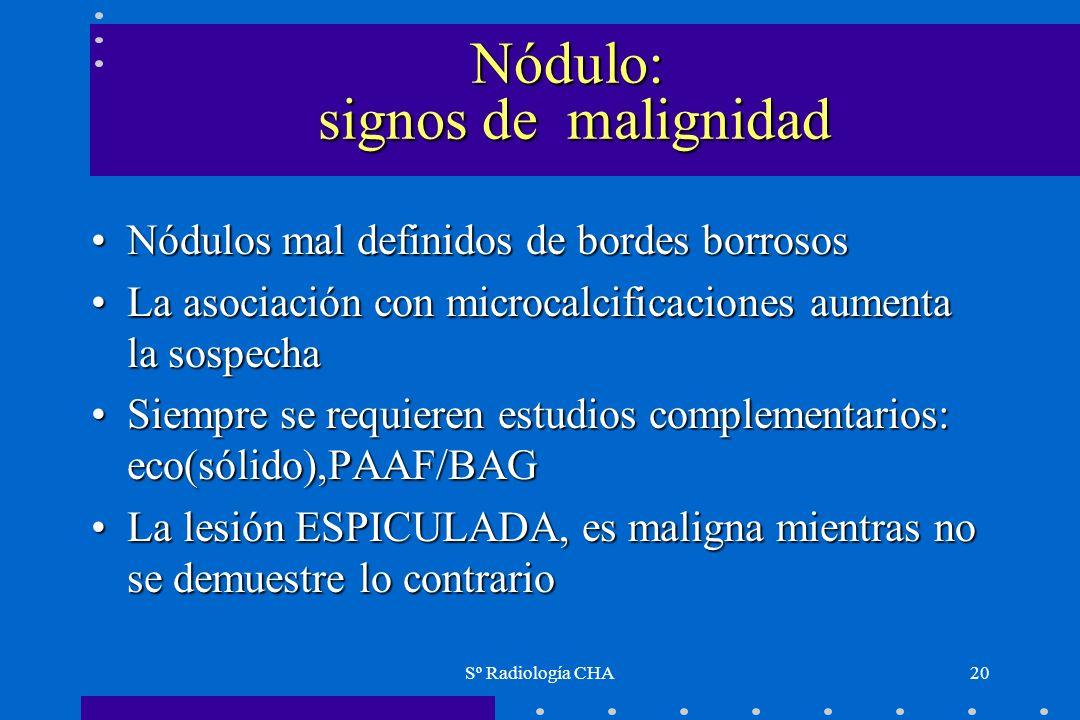 Nódulo: signos de malignidad