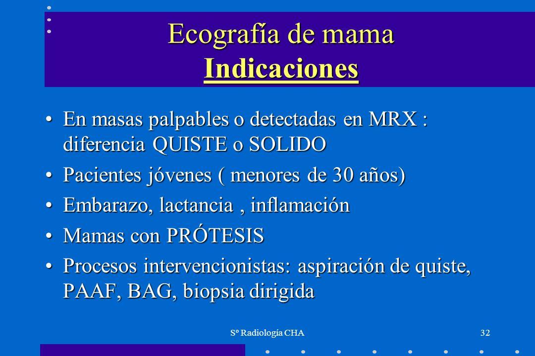 Ecografía de mama Indicaciones