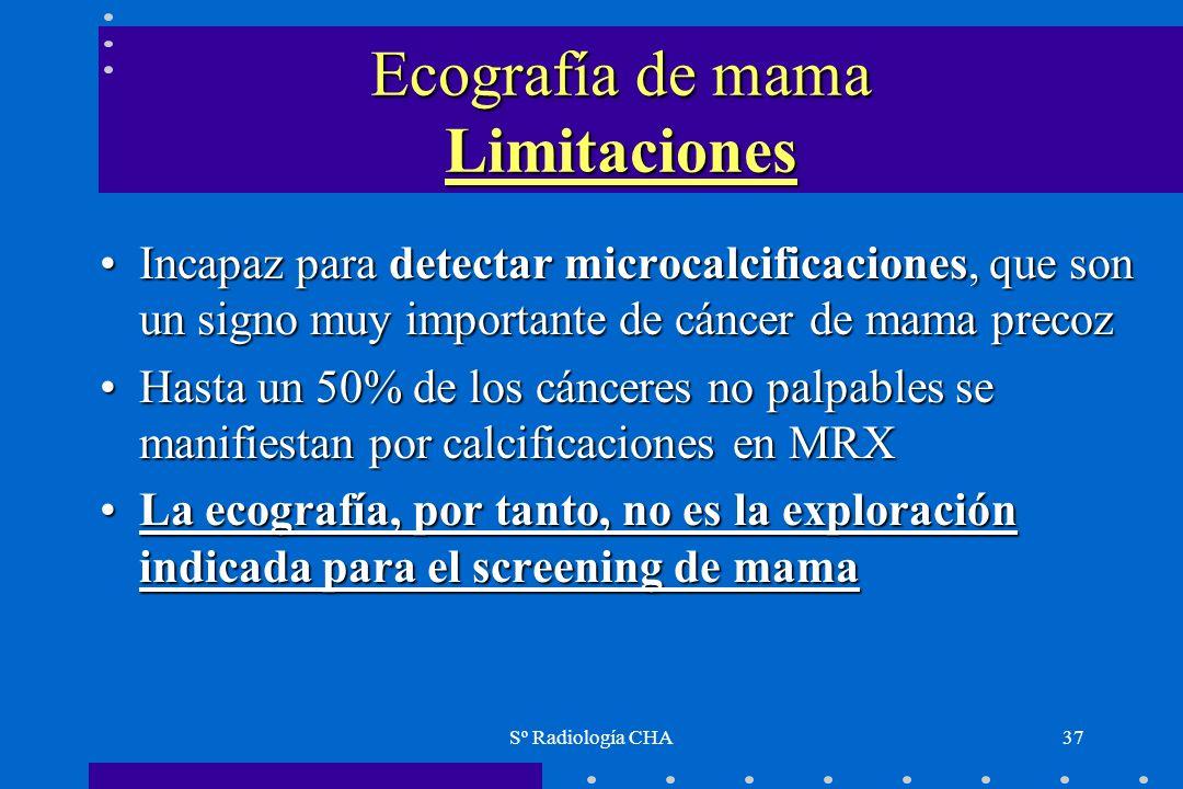Ecografía de mama Limitaciones