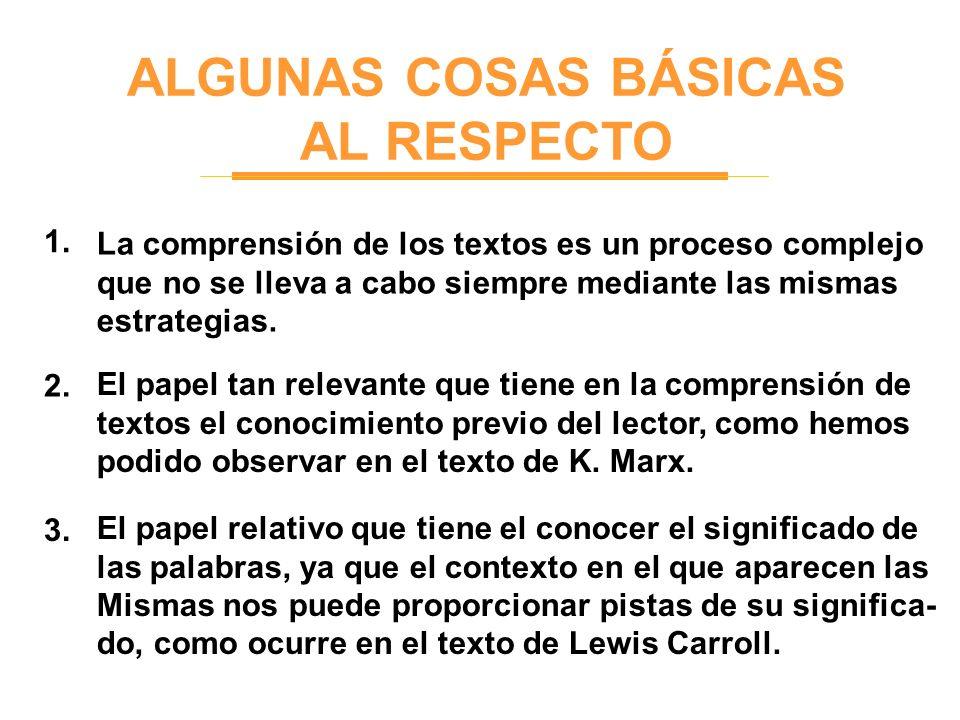 ALGUNAS COSAS BÁSICAS AL RESPECTO