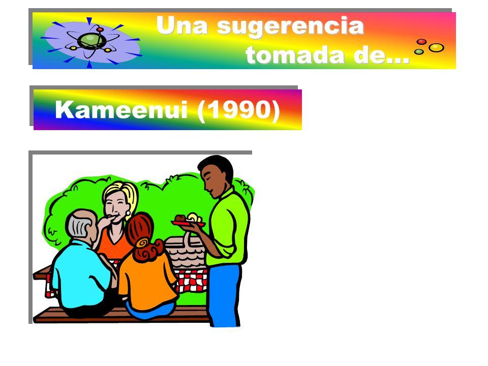 Una sugerencia tomada de... Kameenui (1990) Comenzar trabajando