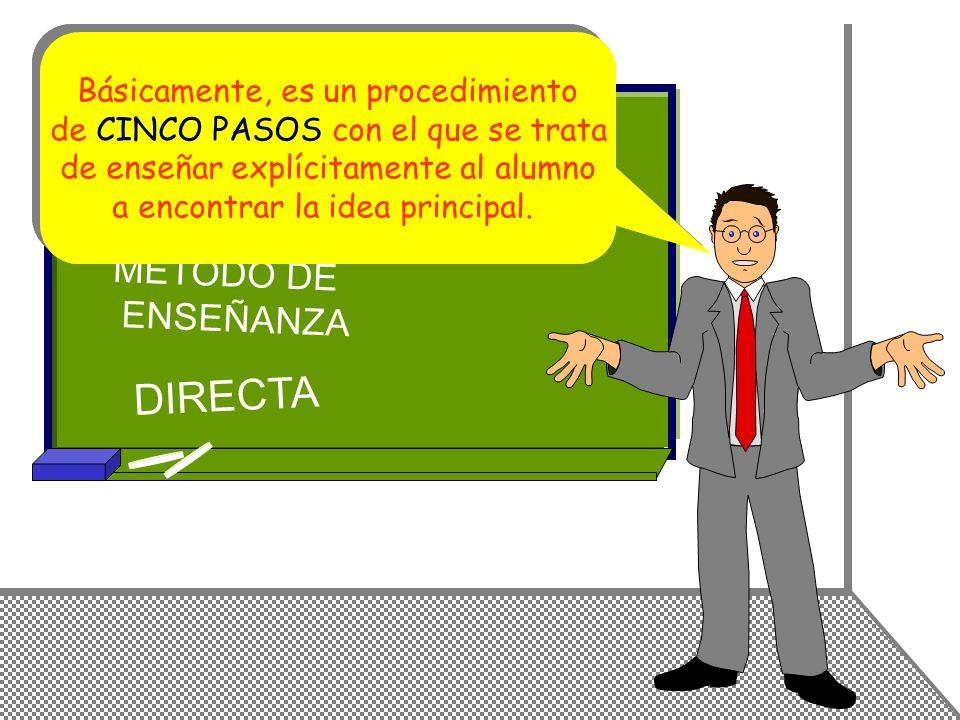 IDEA PRINCIPAL DIRECTA MÉTODO DE ENSEÑANZA