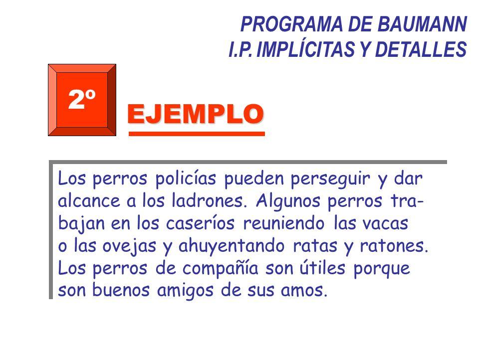 2º EJEMPLO PROGRAMA DE BAUMANN I.P. IMPLÍCITAS Y DETALLES