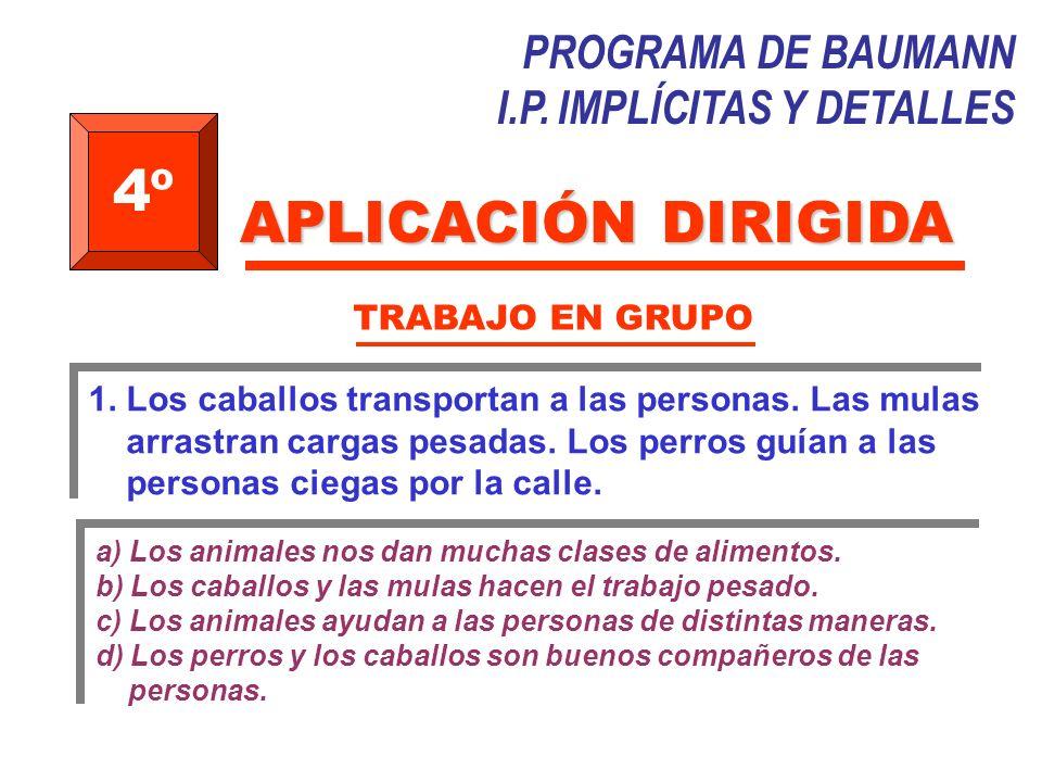 4º APLICACIÓN DIRIGIDA PROGRAMA DE BAUMANN I.P. IMPLÍCITAS Y DETALLES