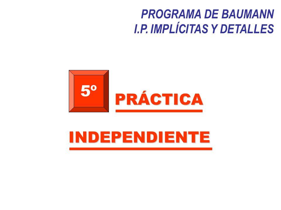 5º PRÁCTICA INDEPENDIENTE PROGRAMA DE BAUMANN