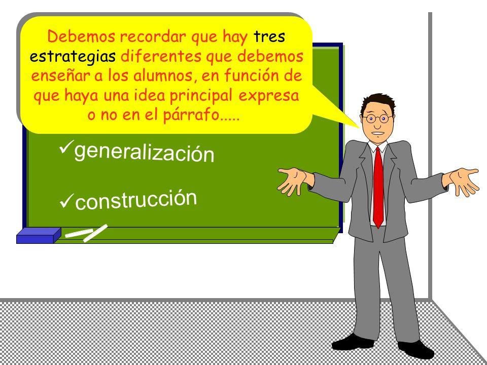 selección generalización construcción Debemos recordar que hay tres
