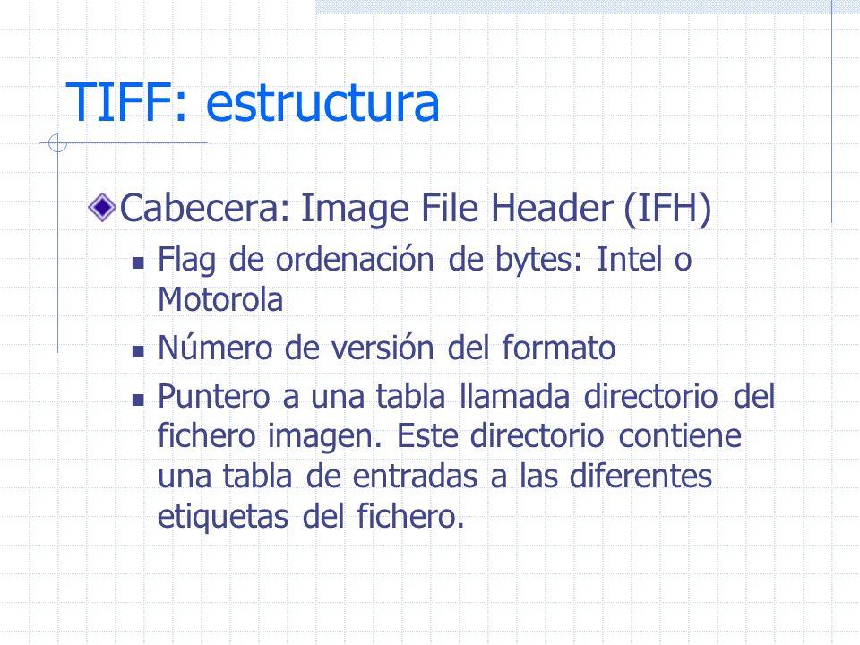 TIFF: estructura Cabecera: Image File Header (IFH)