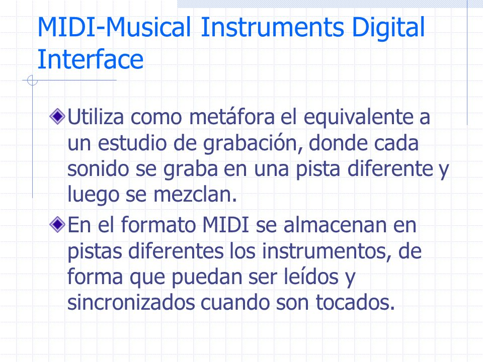 MIDI-Musical Instruments Digital Interface