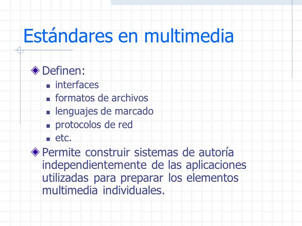 Estándares en multimedia