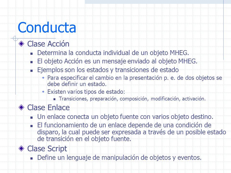 Conducta Clase Acción Clase Enlace Clase Script