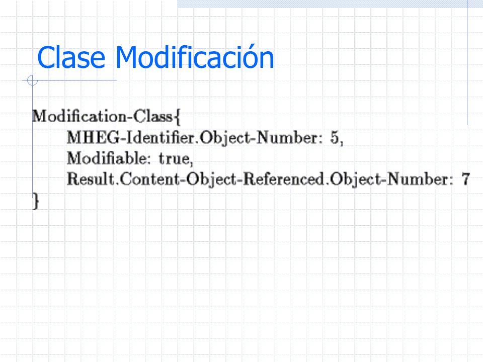 Clase Modificación