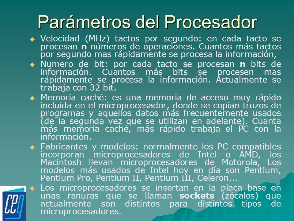 Parámetros del Procesador