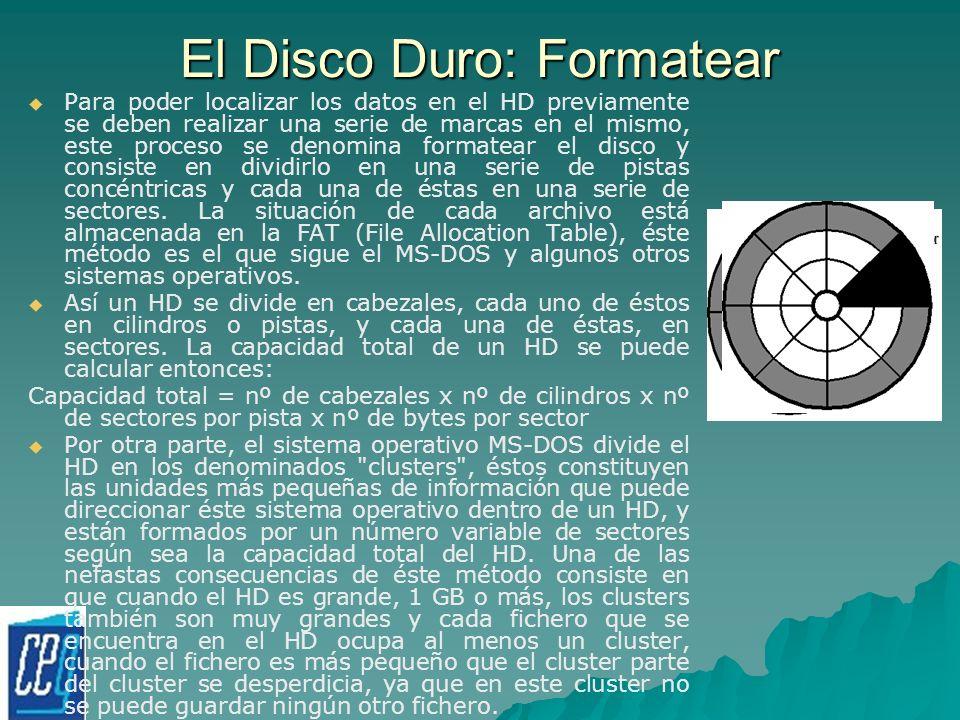 El Disco Duro: Formatear