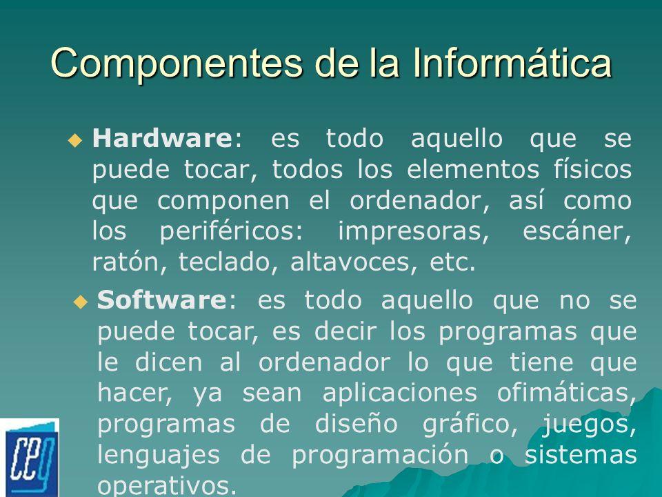 Componentes de la Informática