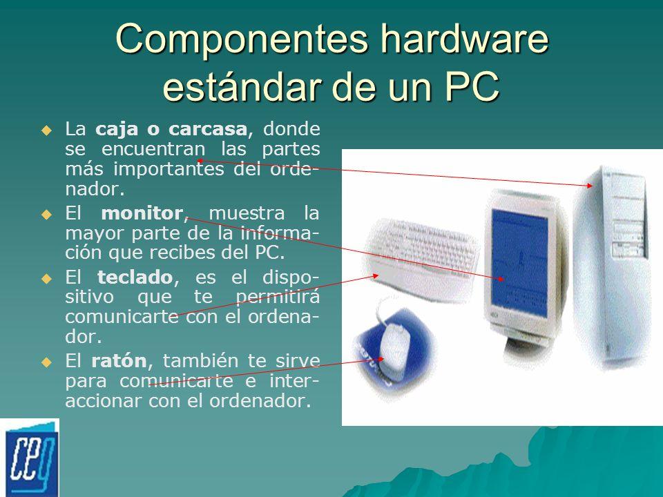 Componentes hardware estándar de un PC