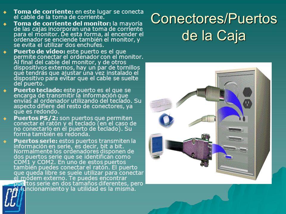 Conectores/Puertos de la Caja