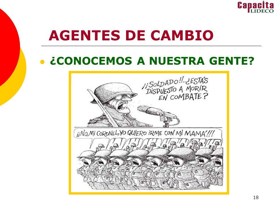 AGENTES DE CAMBIO ¿CONOCEMOS A NUESTRA GENTE