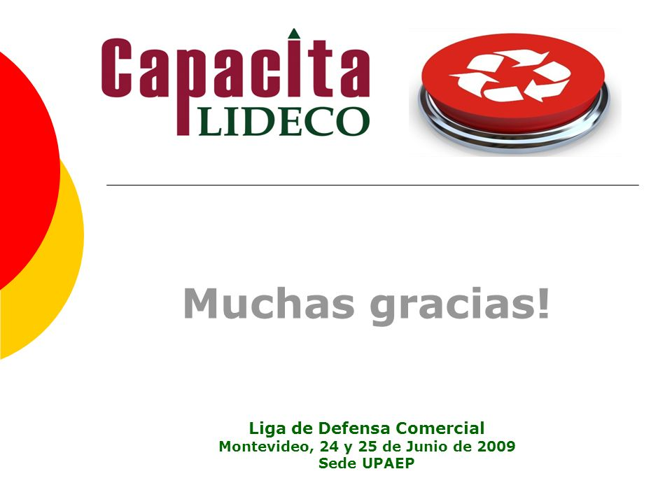 Liga de Defensa Comercial Montevideo, 24 y 25 de Junio de 2009