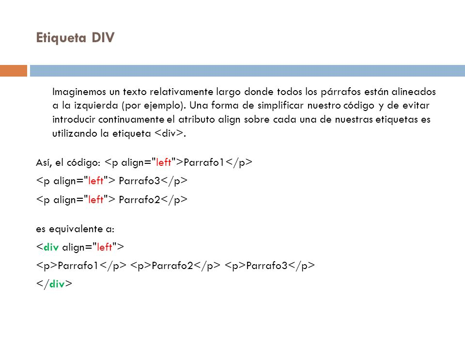 Etiqueta DIV