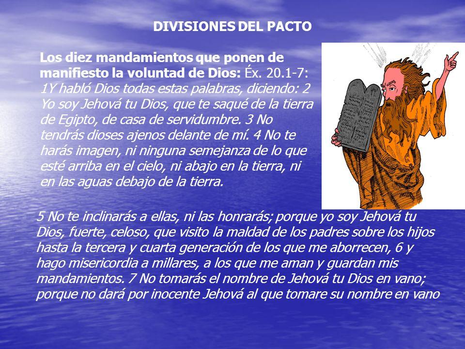 DIVISIONES DEL PACTO
