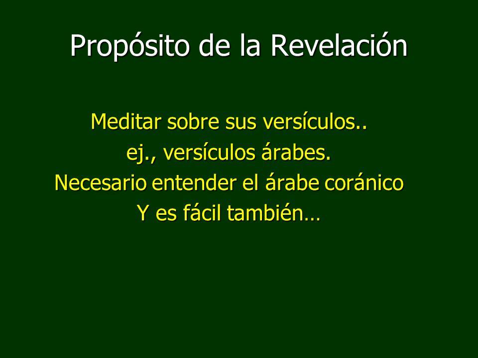 Propósito de la Revelación