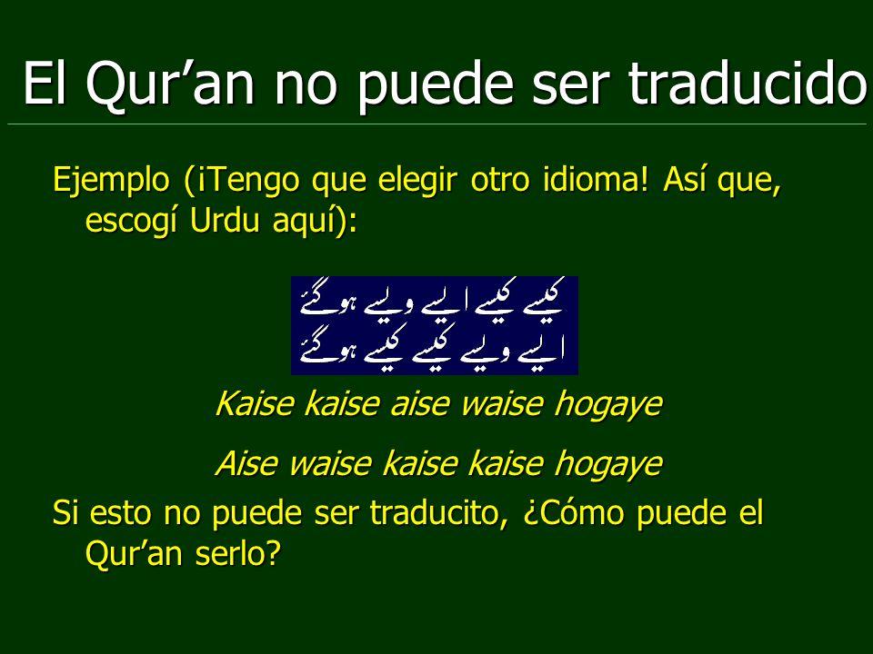 El Qur'an no puede ser traducido