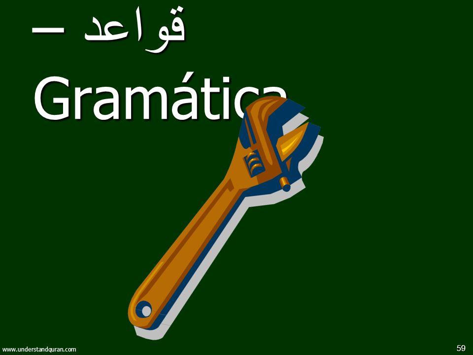 قواعد – Gramática