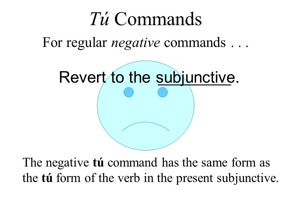 Revert to the subjunctive.
