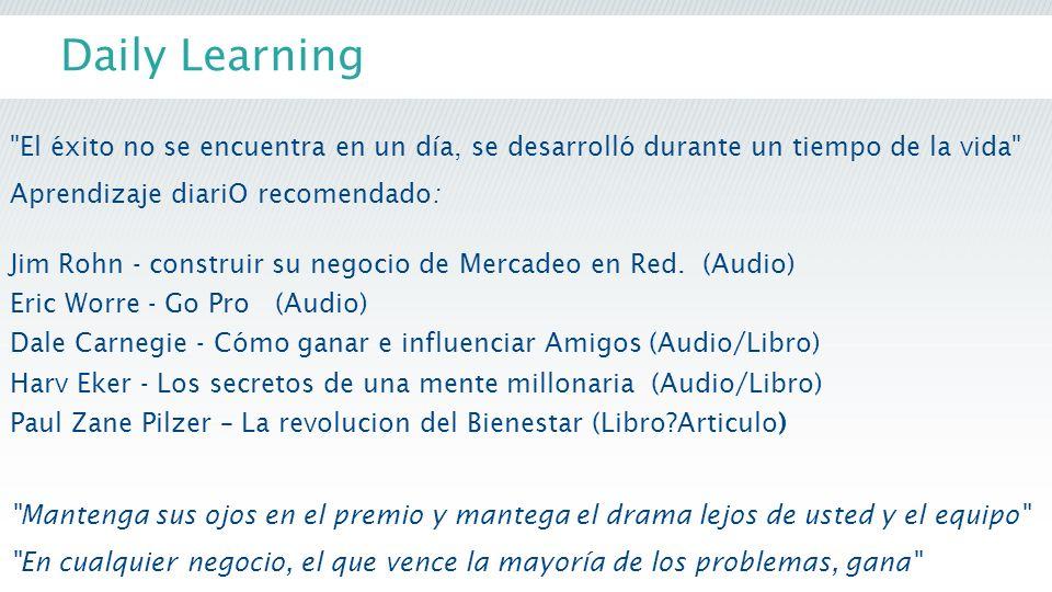 Daily Learning El éxito no se encuentra en un día, se desarrolló durante un tiempo de la vida Aprendizaje diariO recomendado: