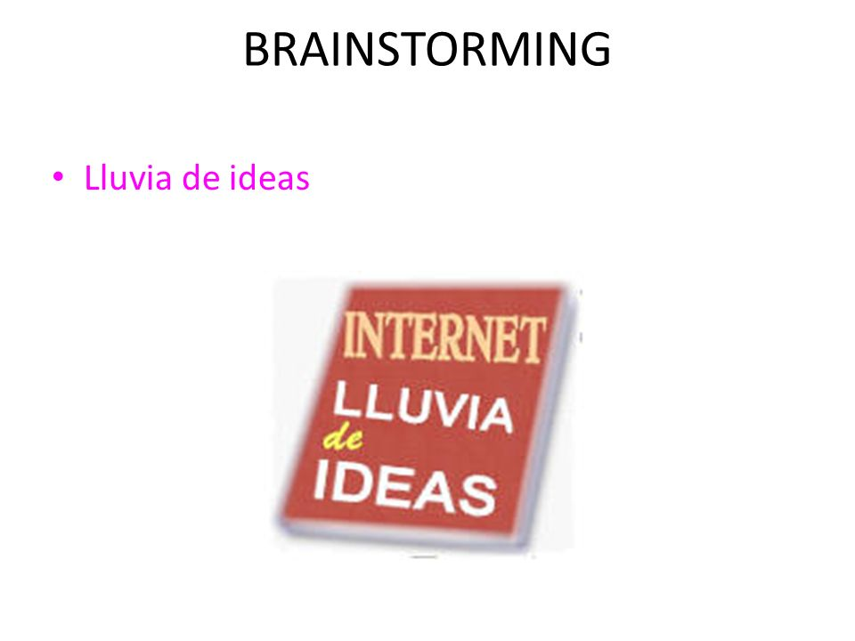 BRAINSTORMING Lluvia de ideas