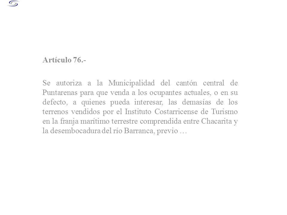 Artículo 76.-