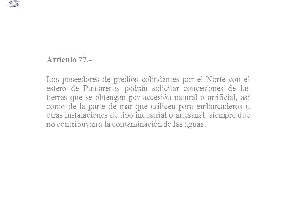 Artículo 77.-