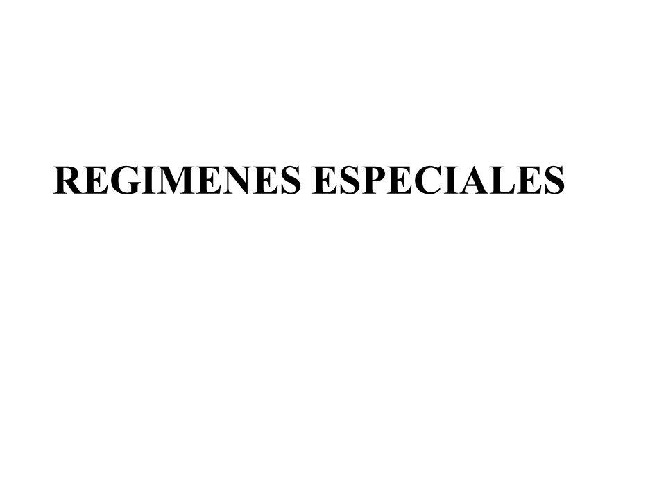 REGIMENES ESPECIALES
