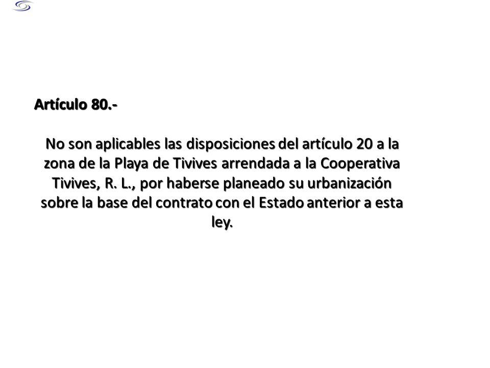 Artículo 80.-