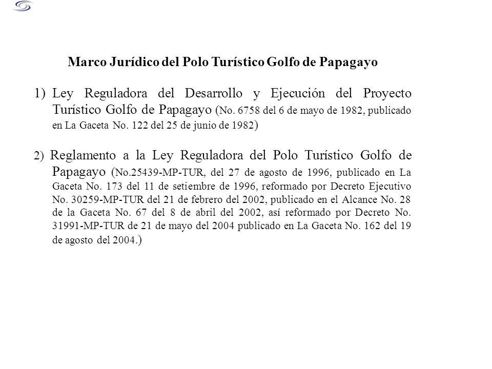 Marco Jurídico del Polo Turístico Golfo de Papagayo