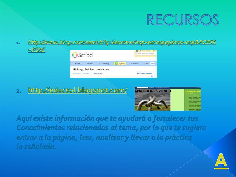 A RECURSOS http://educsol.blogspot.com/