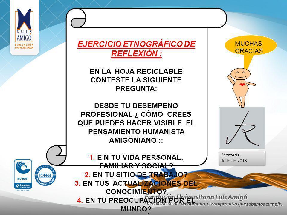EJERCICIO ETNOGRÁFICO DE REFLEXIÓN :