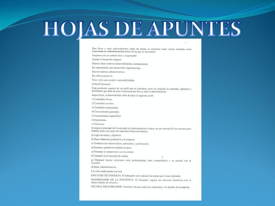 HOJAS DE APUNTES