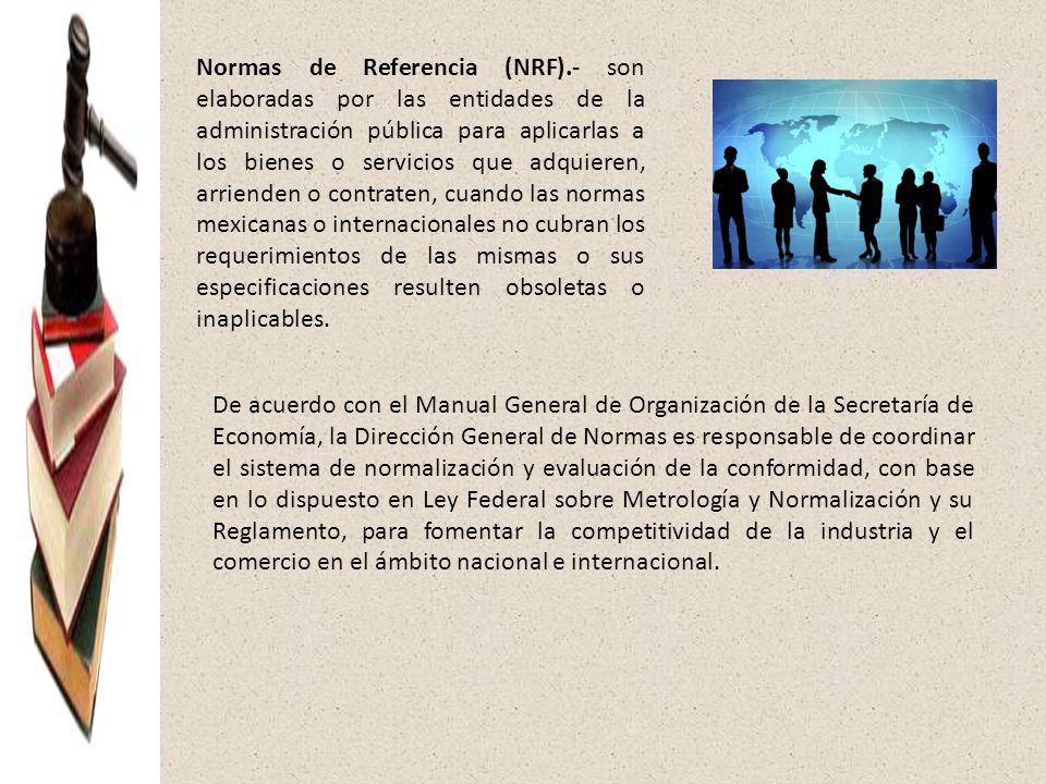 Normas de Referencia (NRF)