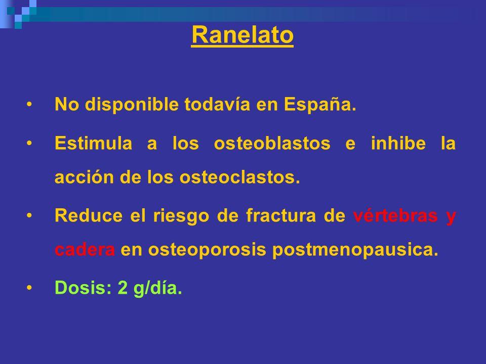 Ranelato No disponible todavía en España.