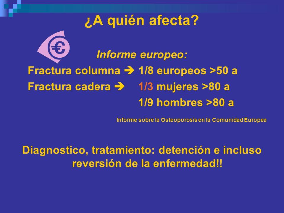 ¿A quién afecta Informe europeo: