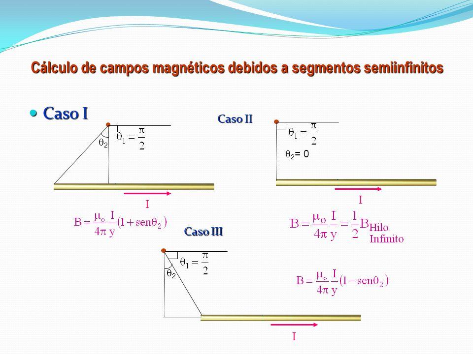Cálculo de campos magnéticos debidos a segmentos semiinfinitos