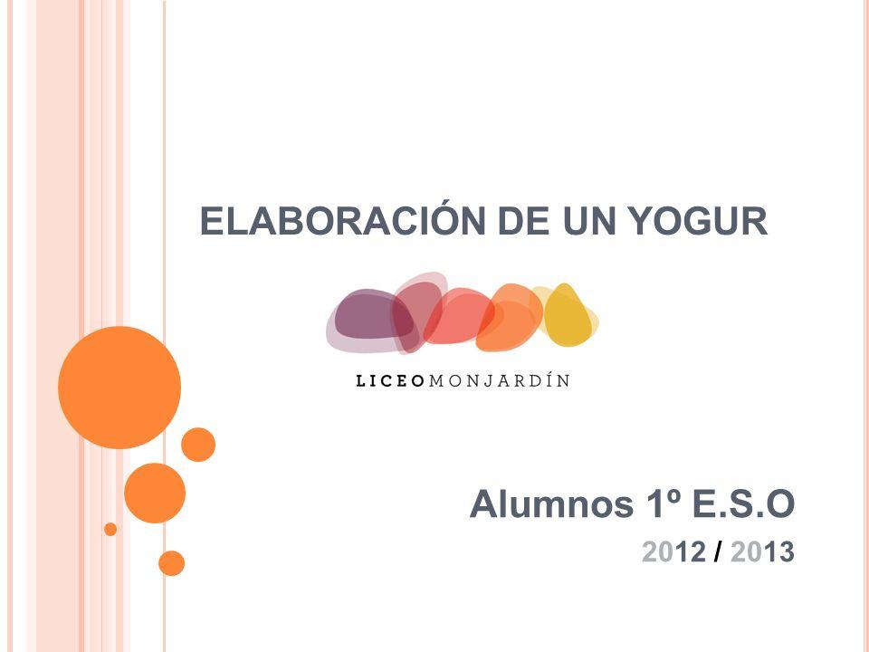 ELABORACIÓN DE UN YOGUR