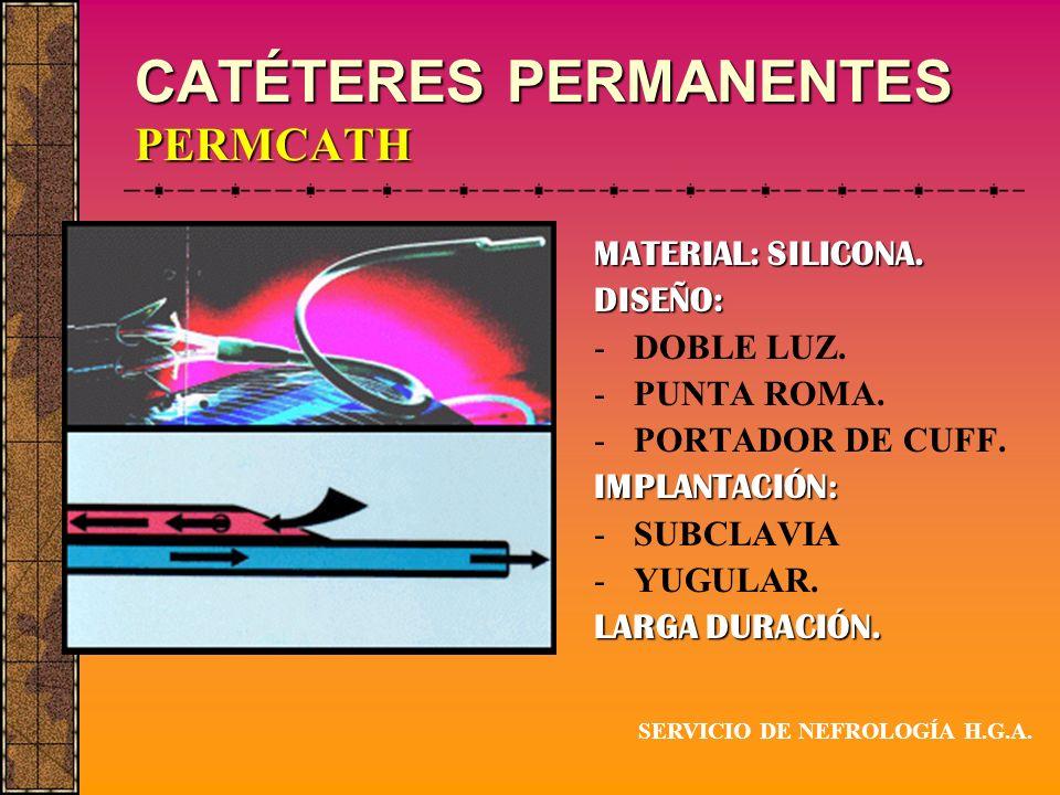 CATÉTERES PERMANENTES PERMCATH