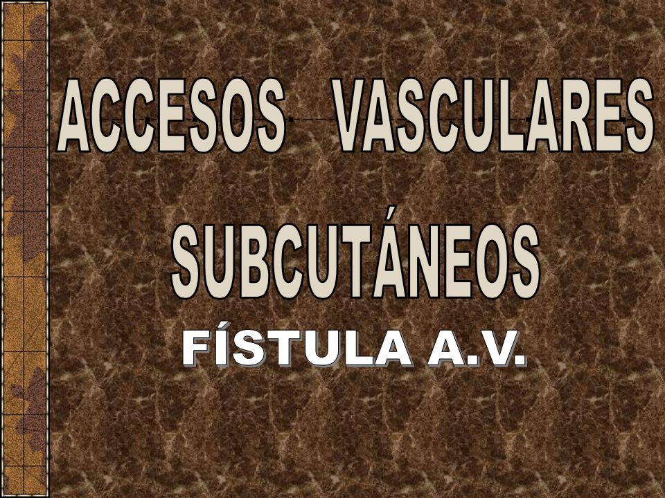 ACCESOS VASCULARES SUBCUTÁNEOS FÍSTULA A.V.