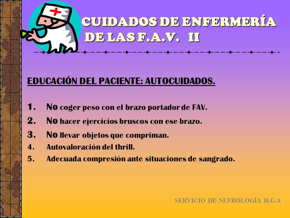 CUIDADOS DE ENFERMERÍA DE LAS F.A.V. II