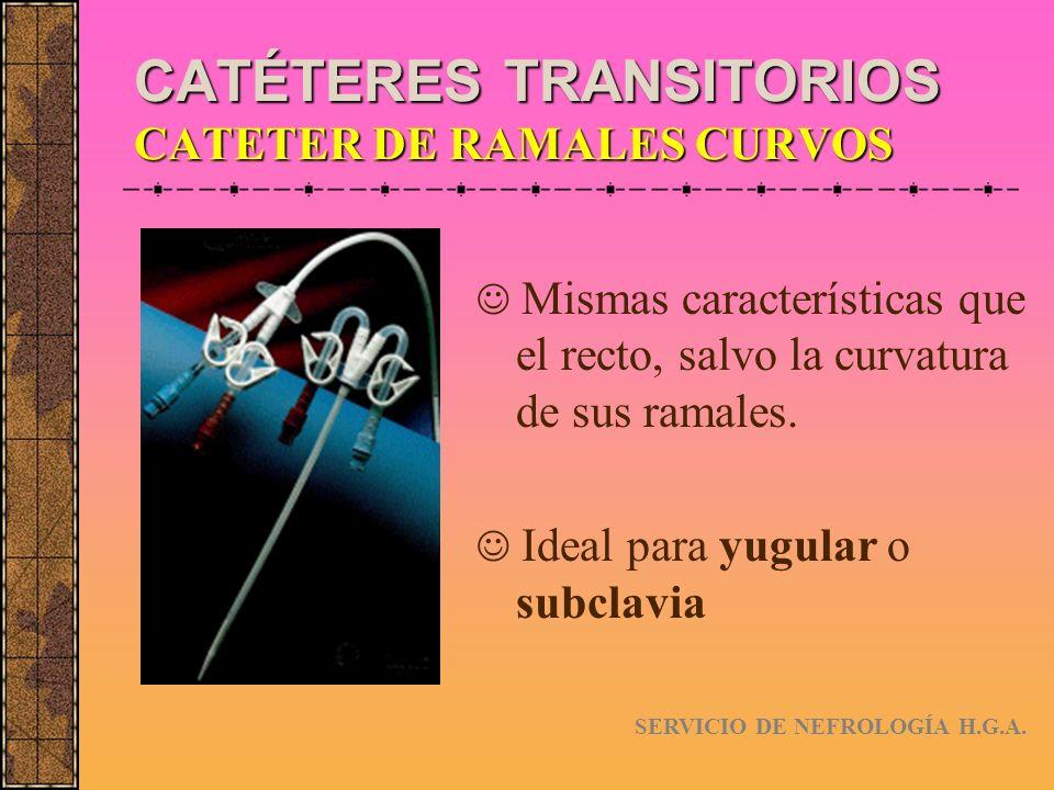 CATÉTERES TRANSITORIOS CATETER DE RAMALES CURVOS