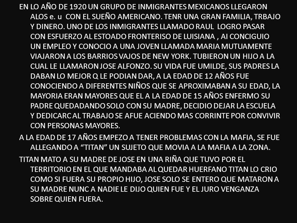 EN LO AÑO DE 1920 UN GRUPO DE INMIGRANTES MEXICANOS LLEGARON ALOS e