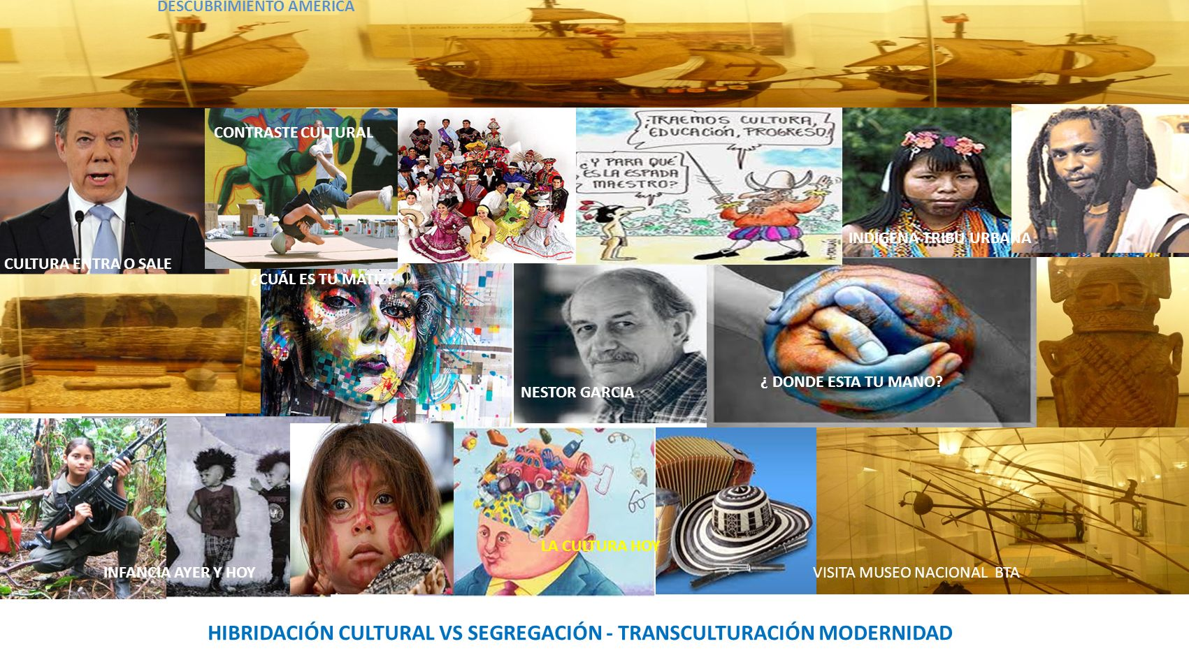 HIBRIDACIÓN CULTURAL VS SEGREGACIÓN - TRANSCULTURACIÓN MODERNIDAD